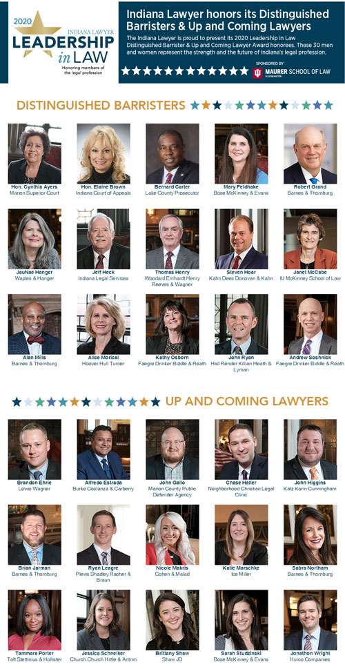 "Estrada Awarded 2020 ""Up & Coming Lawyer"" by The Indiana Lawyer"