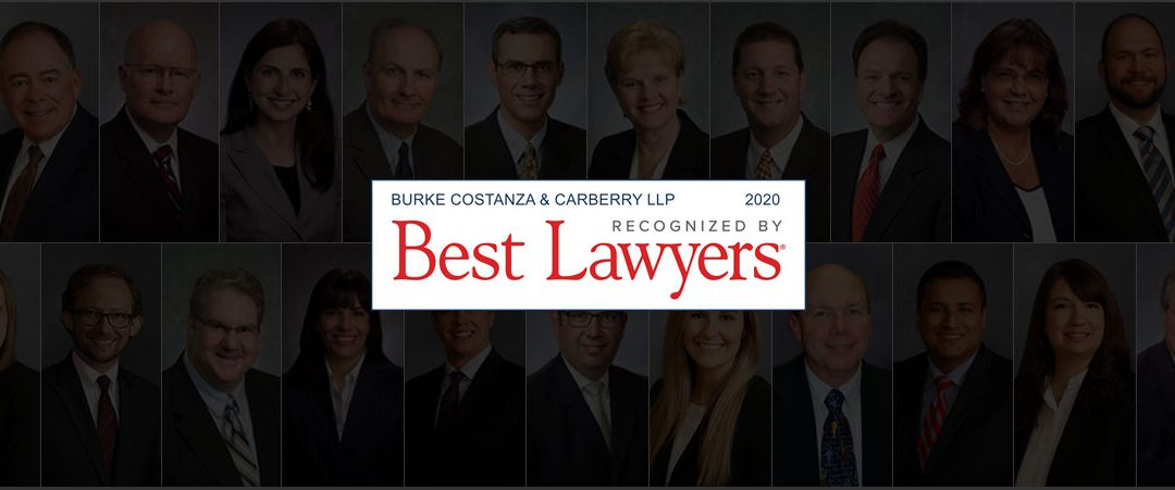 "Burke Costanza & Carberry LLP ranked in 2020 ""Best Law Firms"""