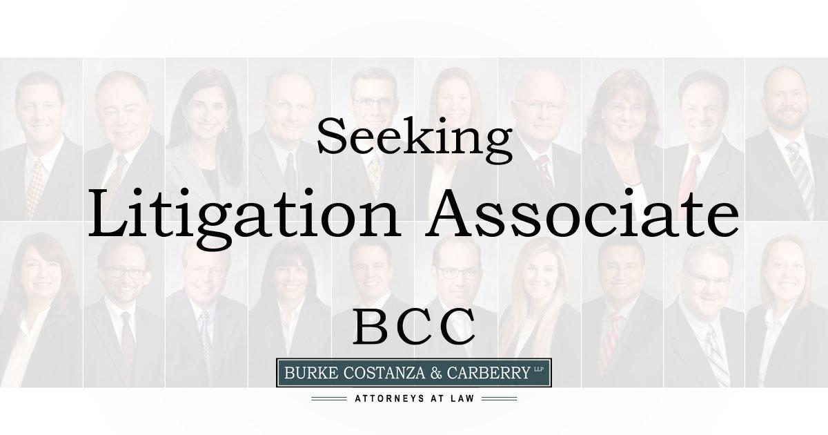 Seeking Experienced Litigation Attorney